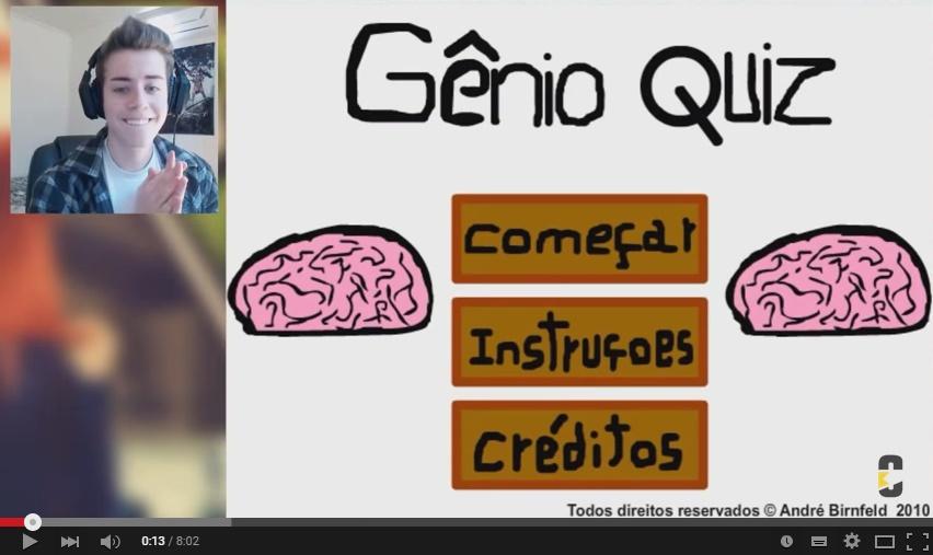 CellBits jogando o Gênio Quiz 1