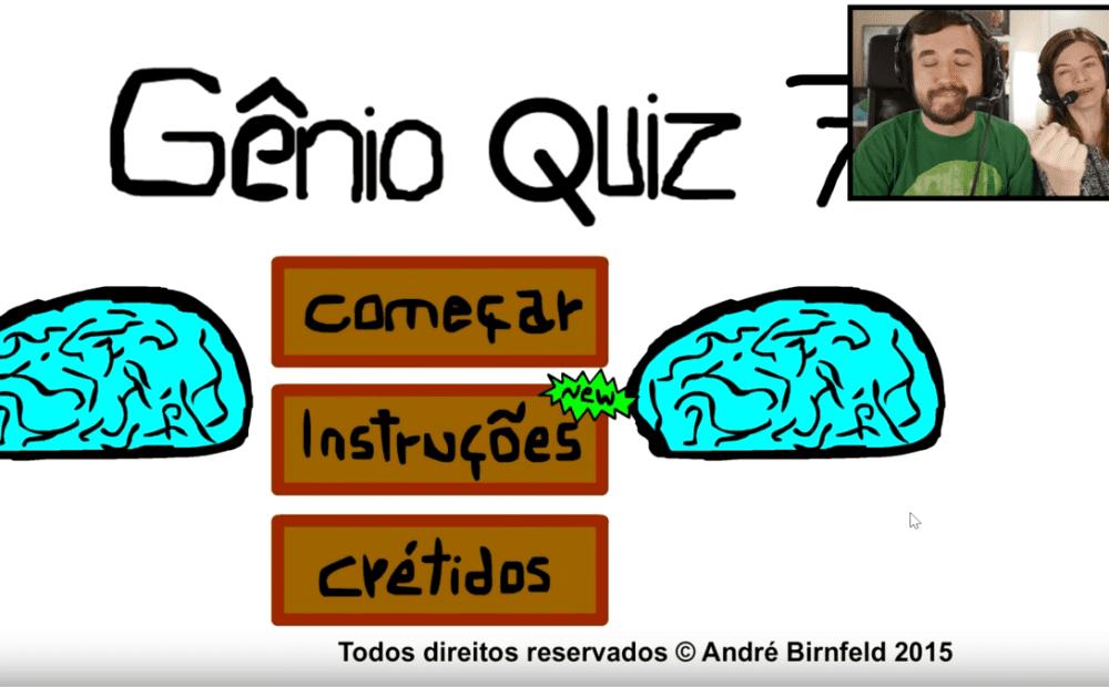 Coisa de Nerd jogando o Gênio Quiz 7