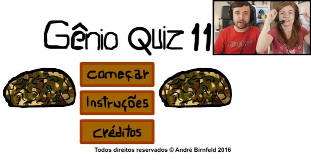 Coisa de Nerd jogando o Gênio Quiz 11