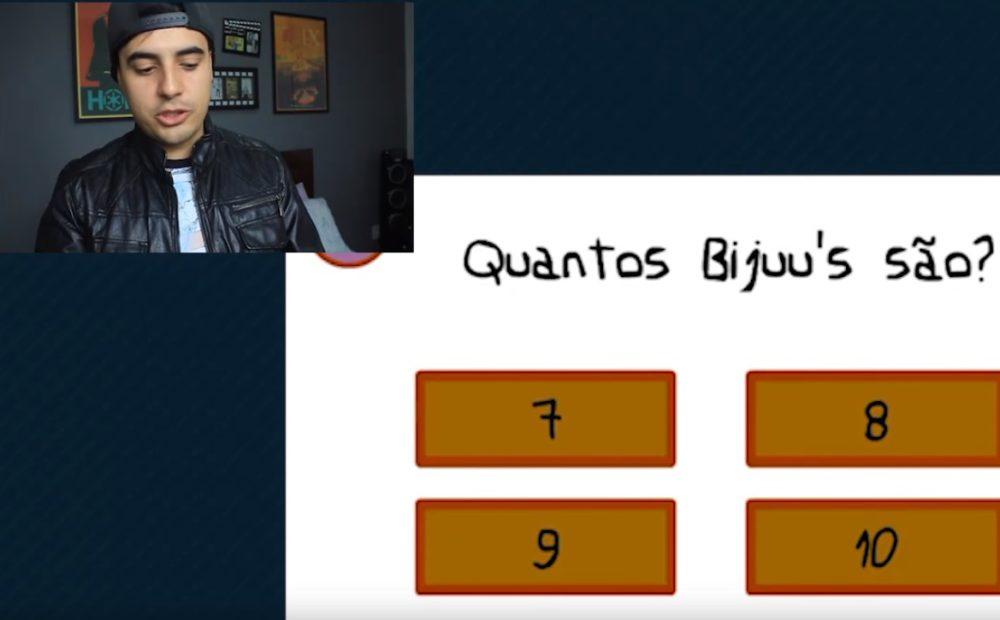 Fred Anime Whatever jogando o Gênio Quiz Naruto