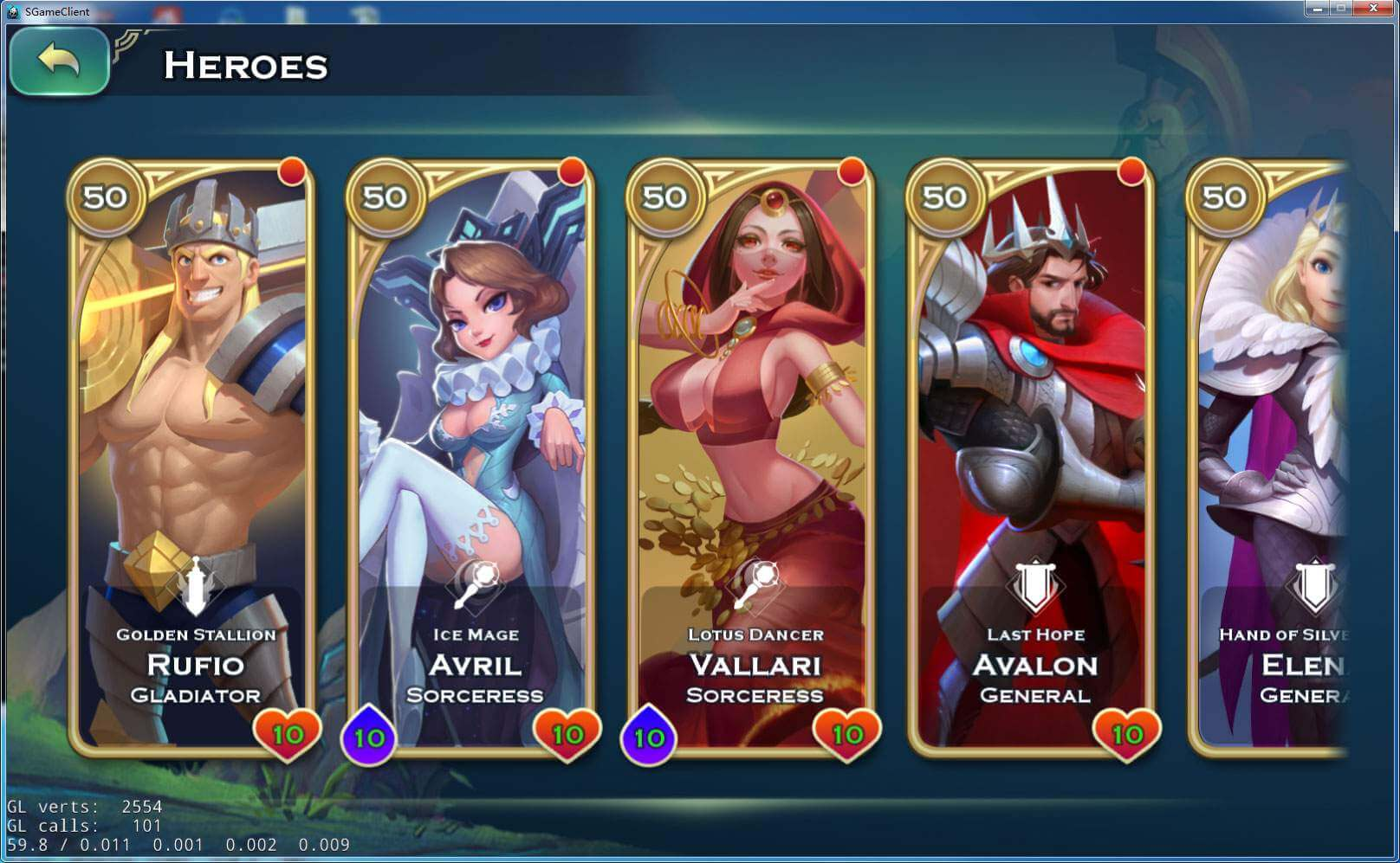 Heróis Art of Conquest