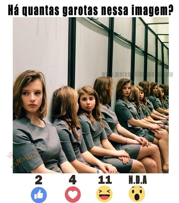 Teste de visão garotas