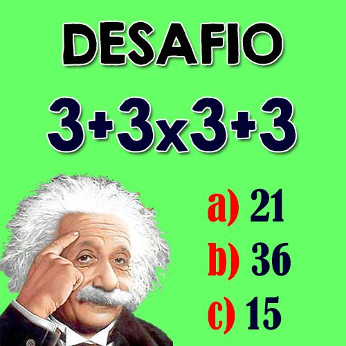 Resposta Teste para gênios: Quanto é 3+3×3+3