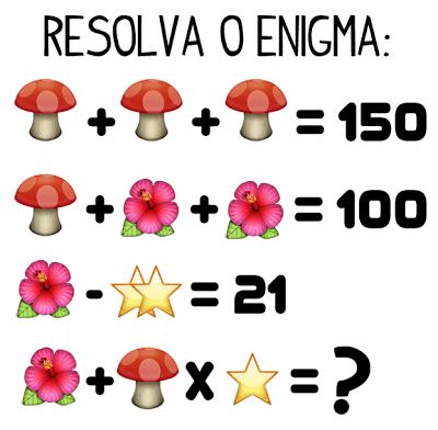 Resposta Quanto vale o cogumelo, a flor e a estrela?