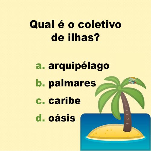 Resposta Qual é o coletivo de ilhas?